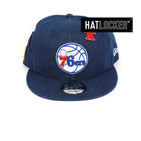 New Era Philadelphia 76ers Denim Snapback Hat