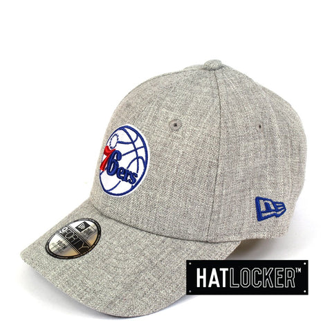 New Era Philadelphia 76ers Heather Grey Team Youth Curved Brim
