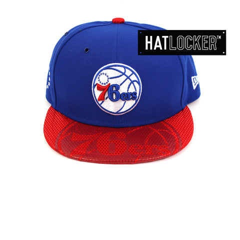 New Era Philadelphia 76ers On-Court Emblem Collection Snapback Hat