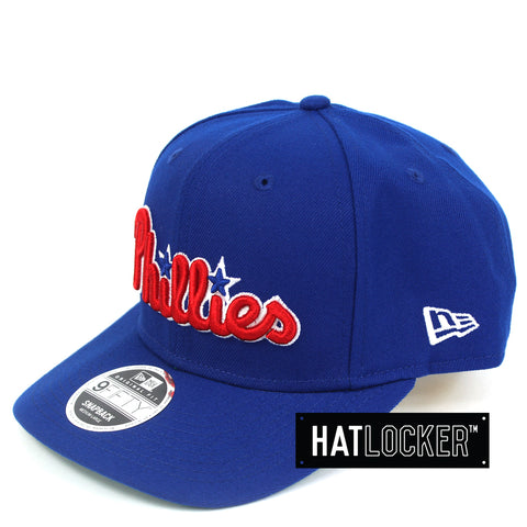 New Era Philadelphia Phillies Throwback Script Precurved Snapback