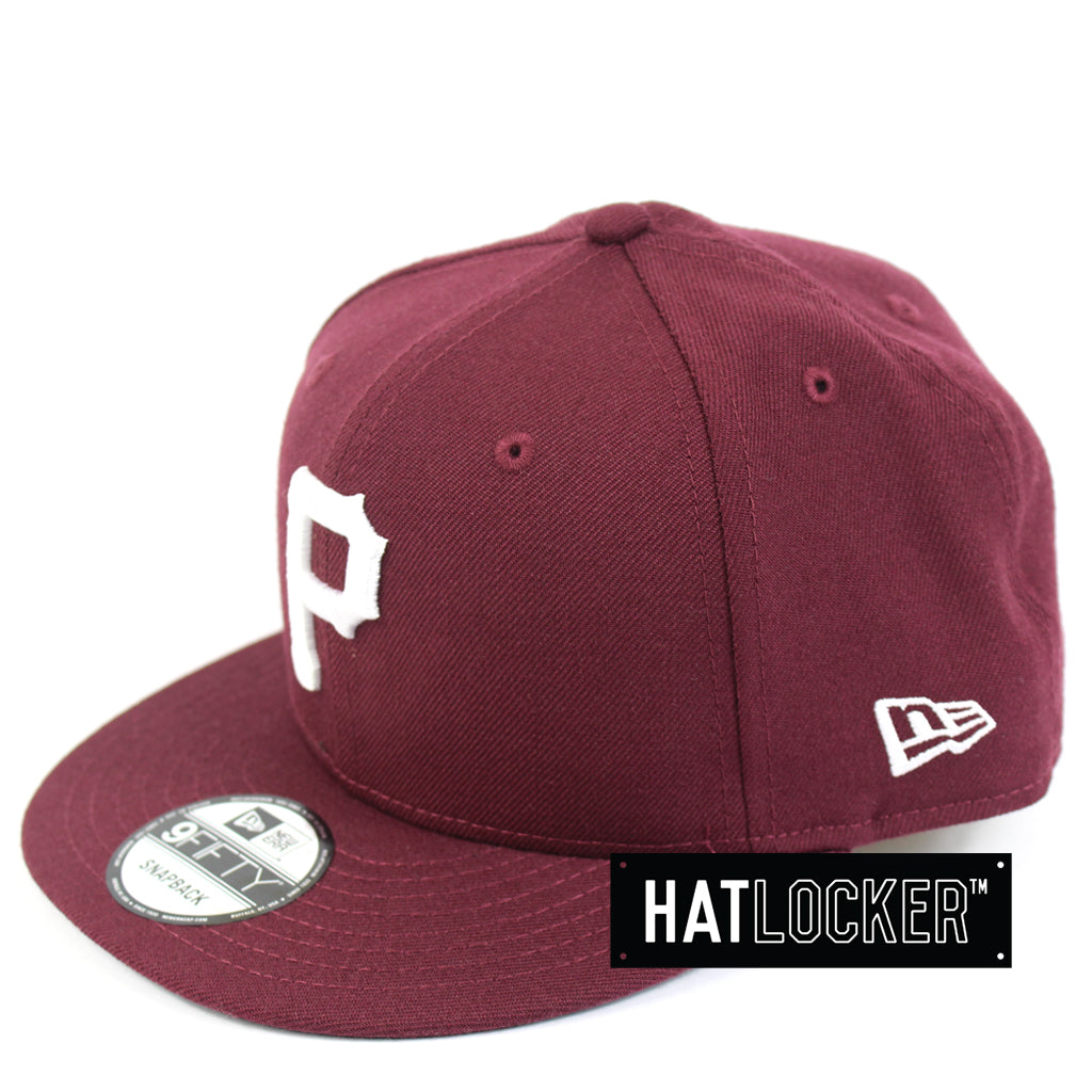 New Era Pittsburgh Pirates Maroon Mix Snapback Hat 970ea18bd30
