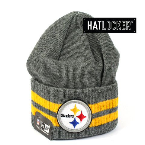 New Era Pittsburgh Steelers 2 Striped Cuff Beanie