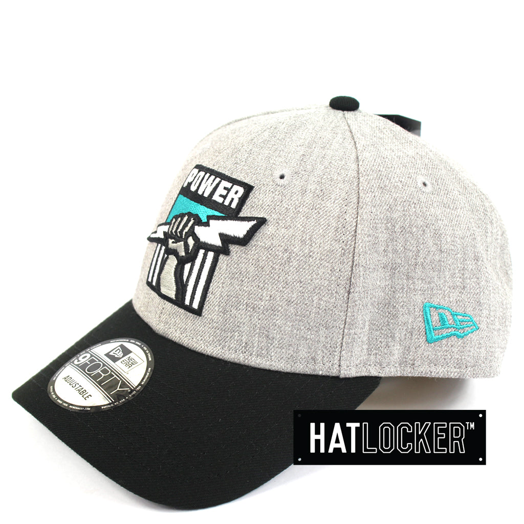 New Era Port Adelaide Power Heather Curved Snapback Hat