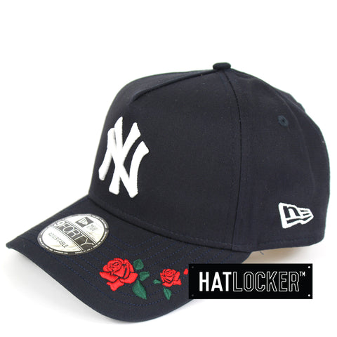 New Era New York Yankees Rose Embroidered Navy Curved Snapback
