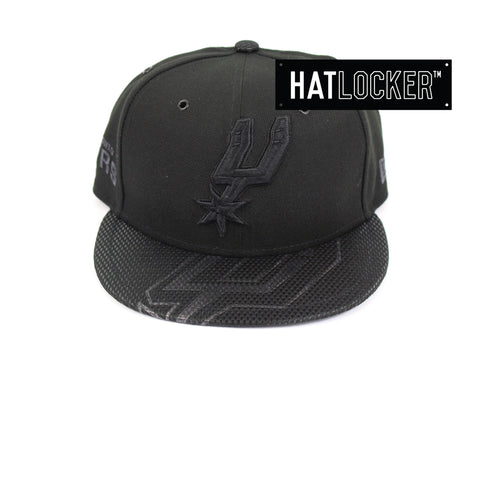 New Era San Antonio Spurs On-Court Black Collection Snapback Hat