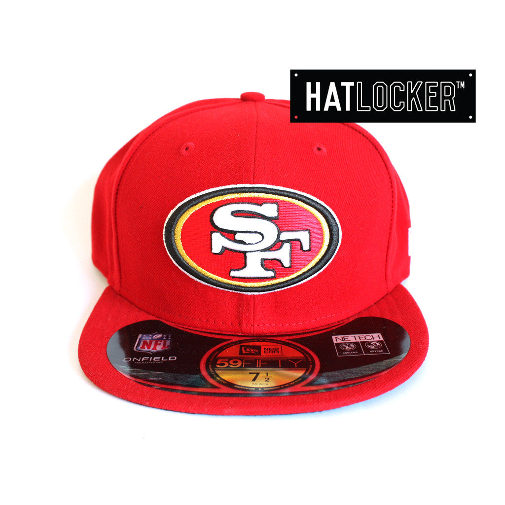 ... official new era nfl san francisco 49ers field 59fifty fitted hat  locker 5b7d6 9bfde 0a60d1933