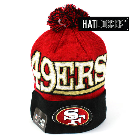 New Era San Francisco 49ers Winter Fresh Pom Knit Beanie