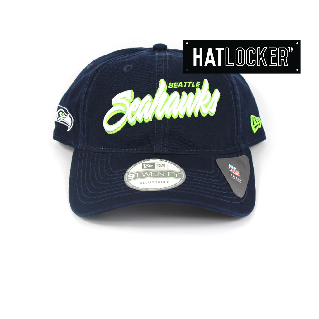New Era Seattle Seahawks Core Script Curved Brim Cap