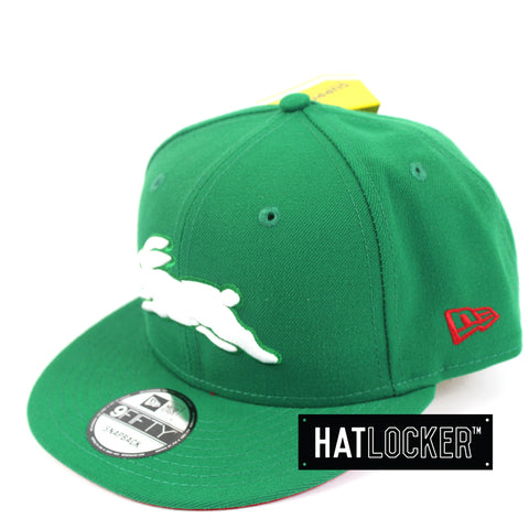 Hat Locker Australia New Era NRL South Sydney Rabbitohs Core Snapback Hat Side