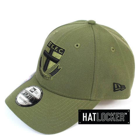 New Era St Kilda Saints 2020 Shadow Tech Olive Curved Snapback Hat