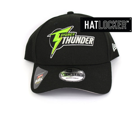New Era Sydney Thunder BBL 08 Black Curved Brim Hat