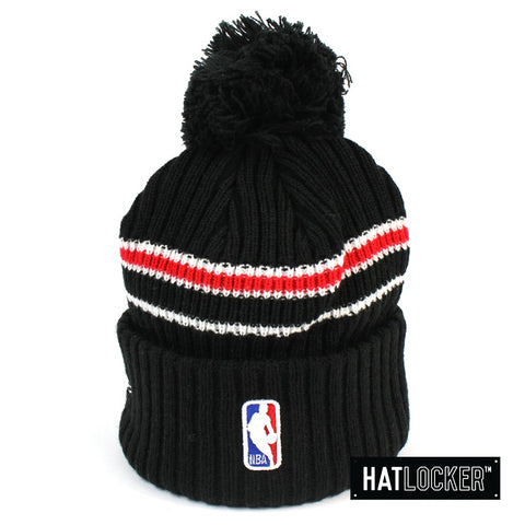 New Era Toronto Raptors BH Series Black Pom Knit Beanie Australia