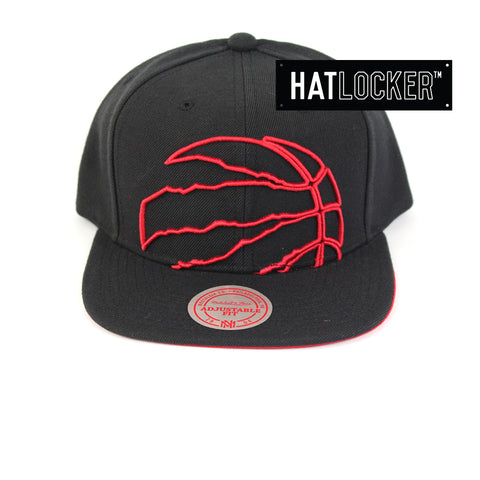 Mitchell & Ness Toronto Raptors Cropped TC Pop Snapback Hat