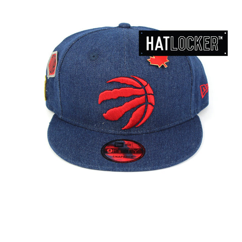 New Era Toronto Raptors Denim Snapback Hat