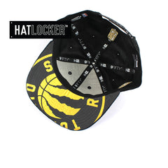 New Era - Toronto Raptors On-Court Black Gold Snapback