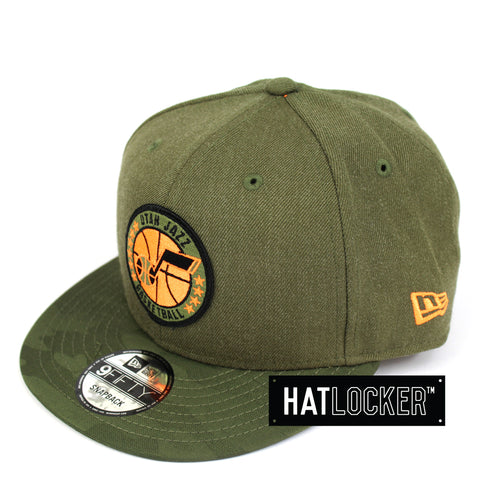 New Era Utah Jazz 2018 NBA Tip Off Army Snapback Cap
