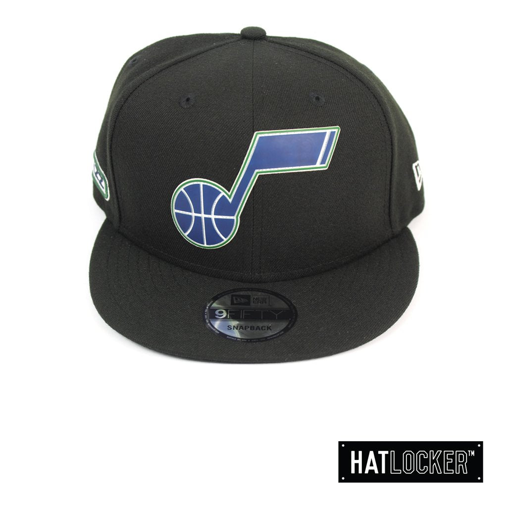 New Era Utah Jazz BH Series Colour Logo Black Snapback Hat