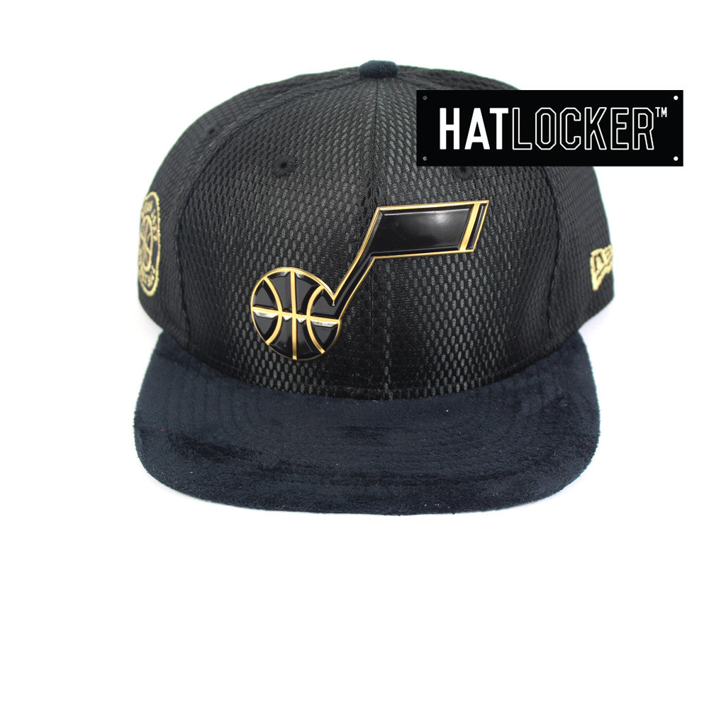 New Era - Utah Jazz On-Court Black Gold Snapback