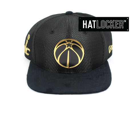 New Era - Washington Wizards On-Court Black Gold Snapback