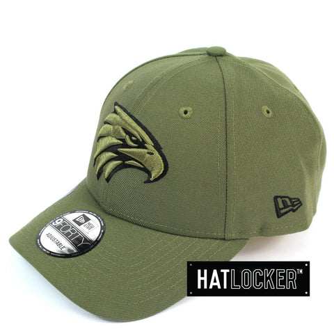 New Era West Coast Eagles 2020 Shadow Tech Olive Curved Snapback Cap