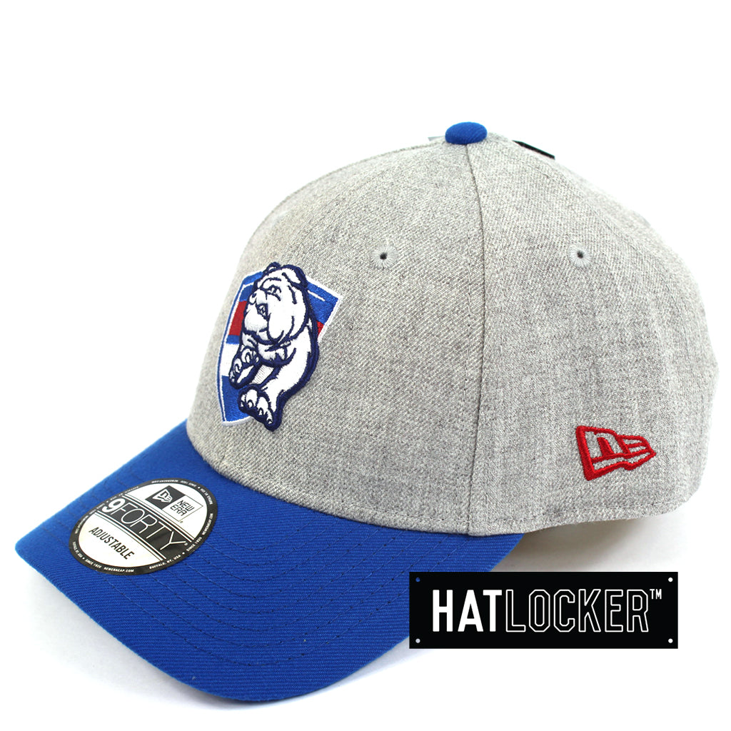 New Era Western Bulldogs Heather Curved Snapback Hat