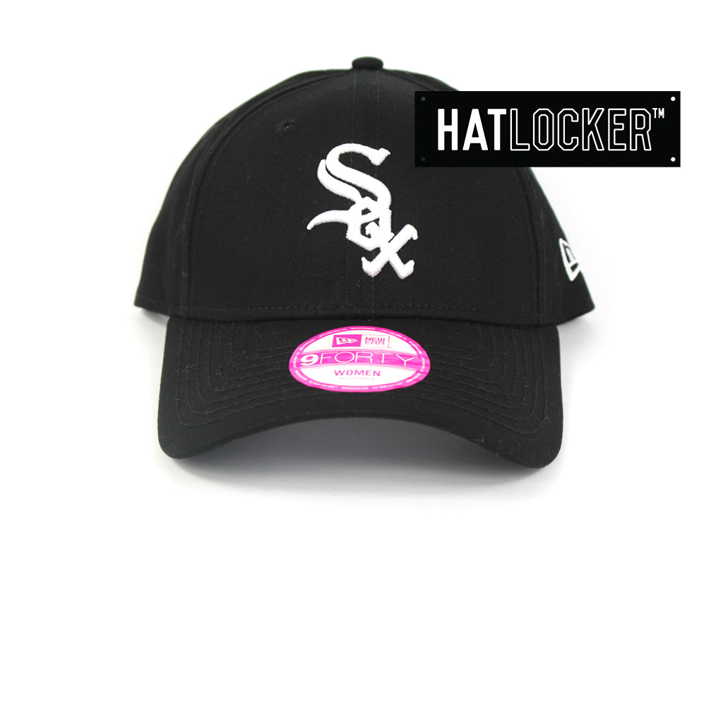 New Era Womens Chicago White Sox Black Curved Brim Hat