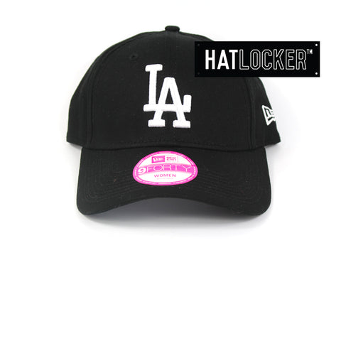 New Era Womens LA Dodgers Black Curved Brim Cap