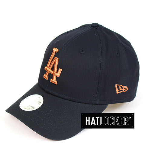 New Era Womens LA Dodgers Rose Gold Curved Brim Hat