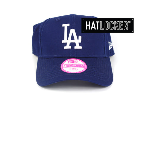 New Era Womens LA Dodgers Royal Blue Curved Brim Cap