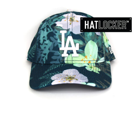 338b14efa40fe0 ... czech new era womens la dodgers teal floral curved brim cap 44626 e9738