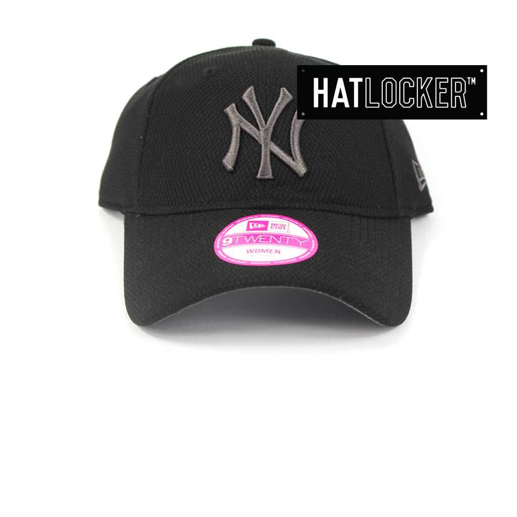 New Era Womens New York Yankees Diamond Era Black Curved Brim Cap 63ab027d9