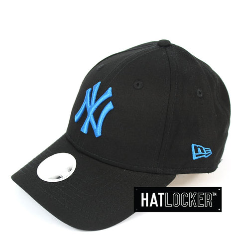 New Era Womens New York Yankees Neon Pop Dolphin Blue Curved Strapback