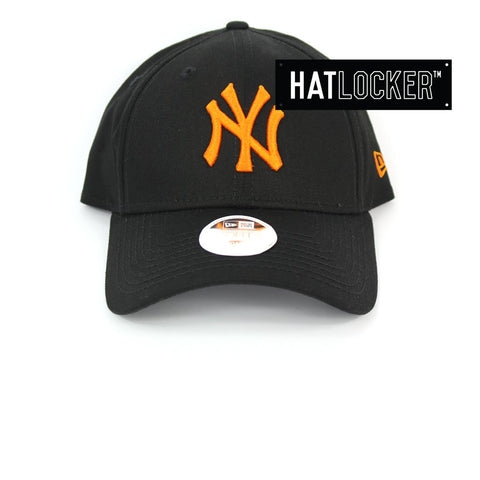 New Era Womens New York Yankees Neon Pop Orange Curved Strapback