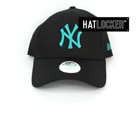 New Era Womens New York Yankees Neon Pop Turquoise Curved Strapback