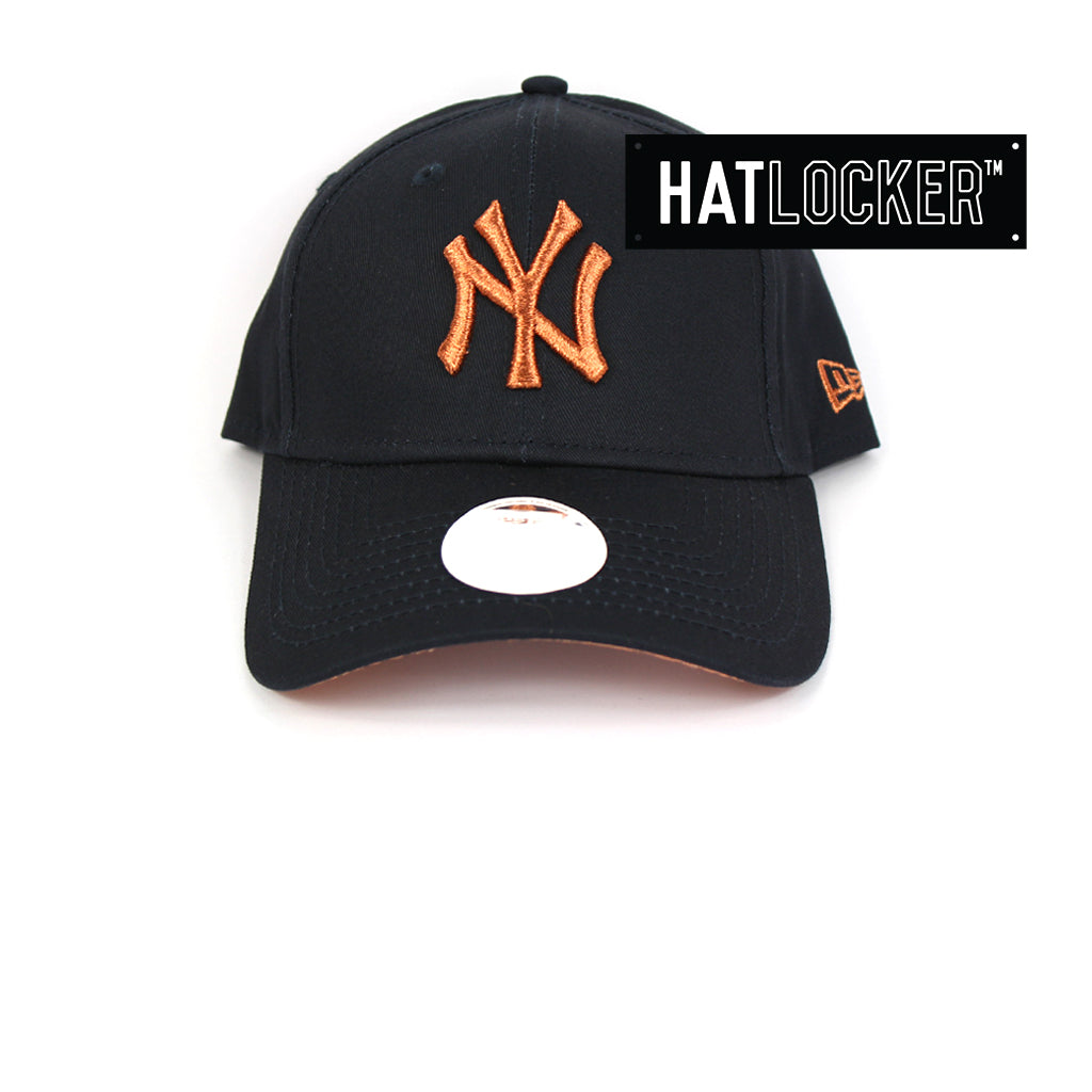 a73db6a4e New Era | Official MLB Women's New York Yankees Rose Gold Curved Hat ...