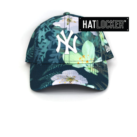 New Era Womens New York Yankees Teal Floral Curved Brim