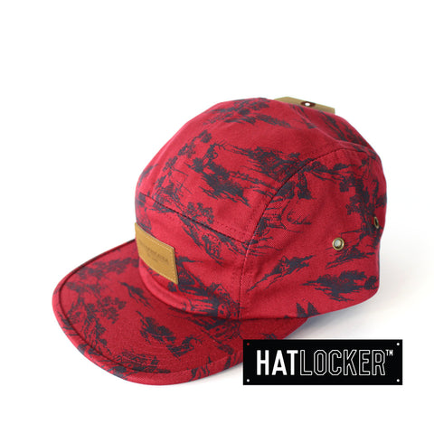 Obey Ace Burgundy 5 Panel