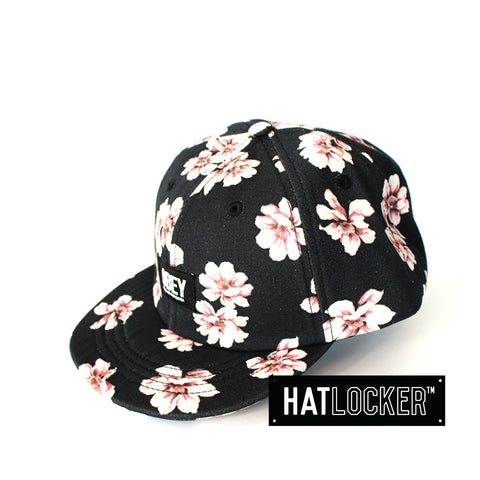 Obey In Bloom Throwback Black Floral Strapback