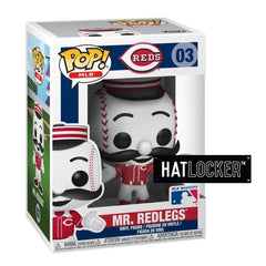 Pop Vinyl Baseball MLB Mascots Cincinnati Reds Mr. Redlegs