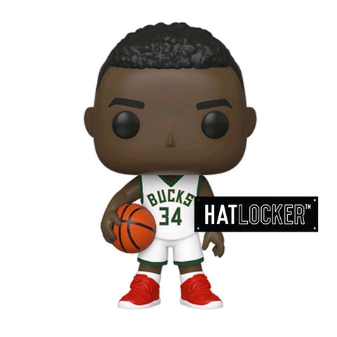 Pop Vinyl Basketball NBA Milwaukee Bucks Giannis Antetokounmpo White Uniform