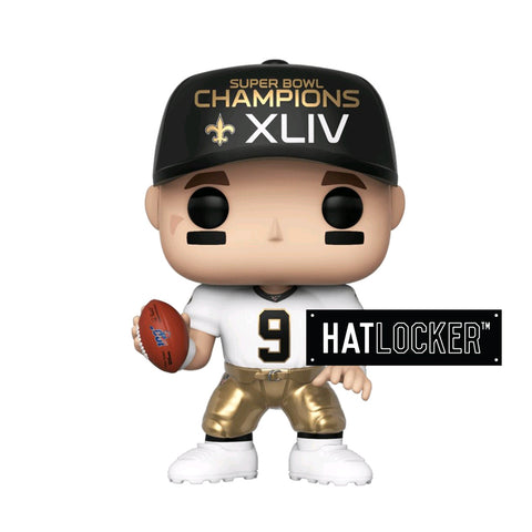 Pop Vinyl Football NFL New Orleans Saints Drew Brees SB Champions XLIV