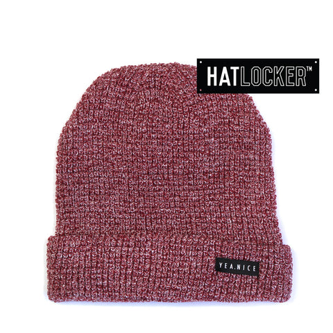 Yea.Nice - The Folded Port Heather Beanie