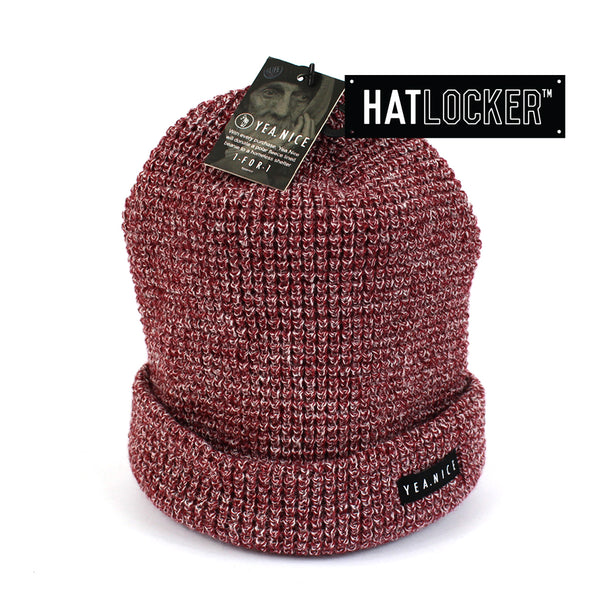 Yea.Nice The Folded Port Heather Beanie