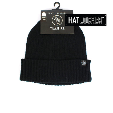 Yea.Nice Warsaw Caviar Black Toddler Beanie