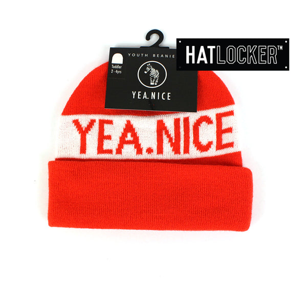 Yea.Nice Pom Orange Toddler Beanie