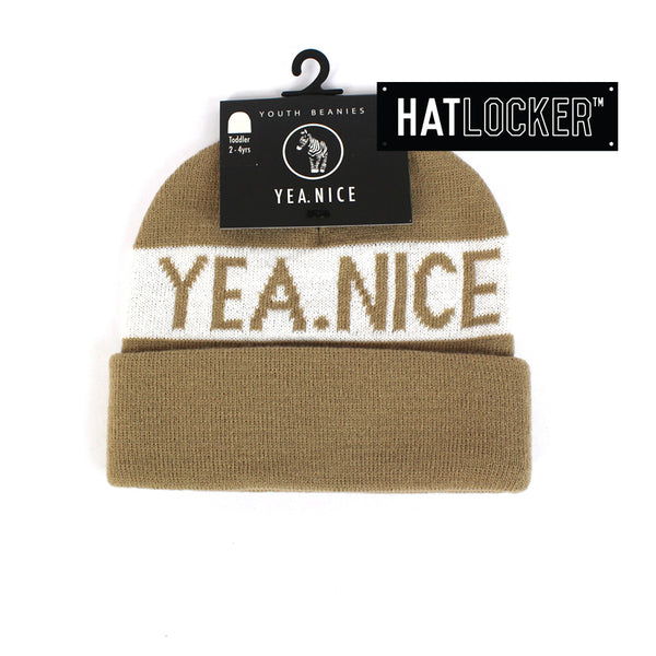 Yea.Nice Pom Sand Toddler Beanie