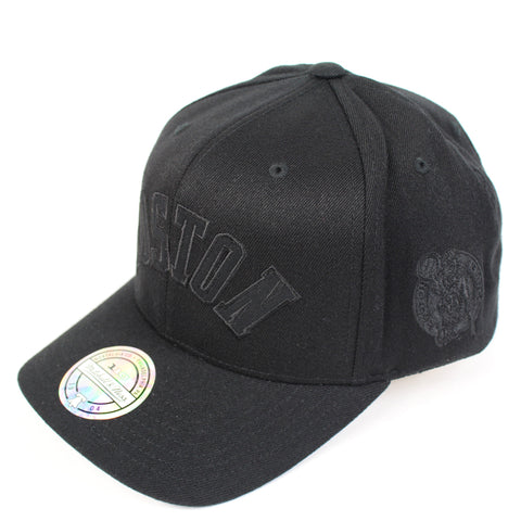 Mitchell and Ness Boston Celtics Black Tonal Jersey Snapback
