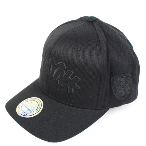 Mitchell and Ness Brooklyn Nets Black Tonal Jersey Snapback