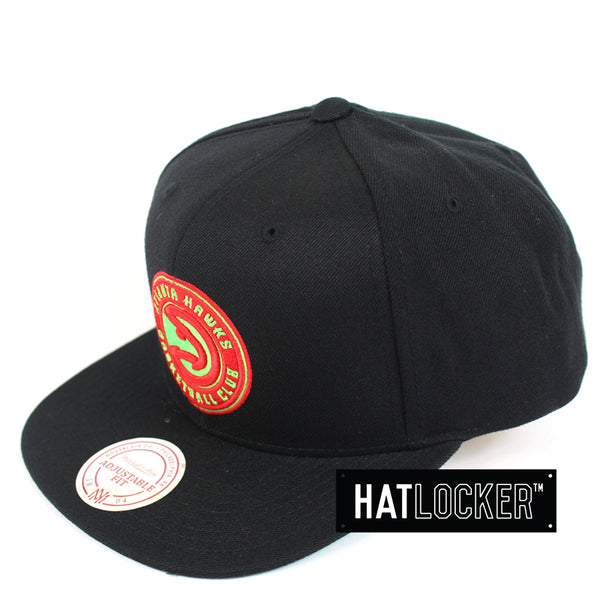 Mitchell Ness Atlanta Hawks Wool Solid Snapback Hat