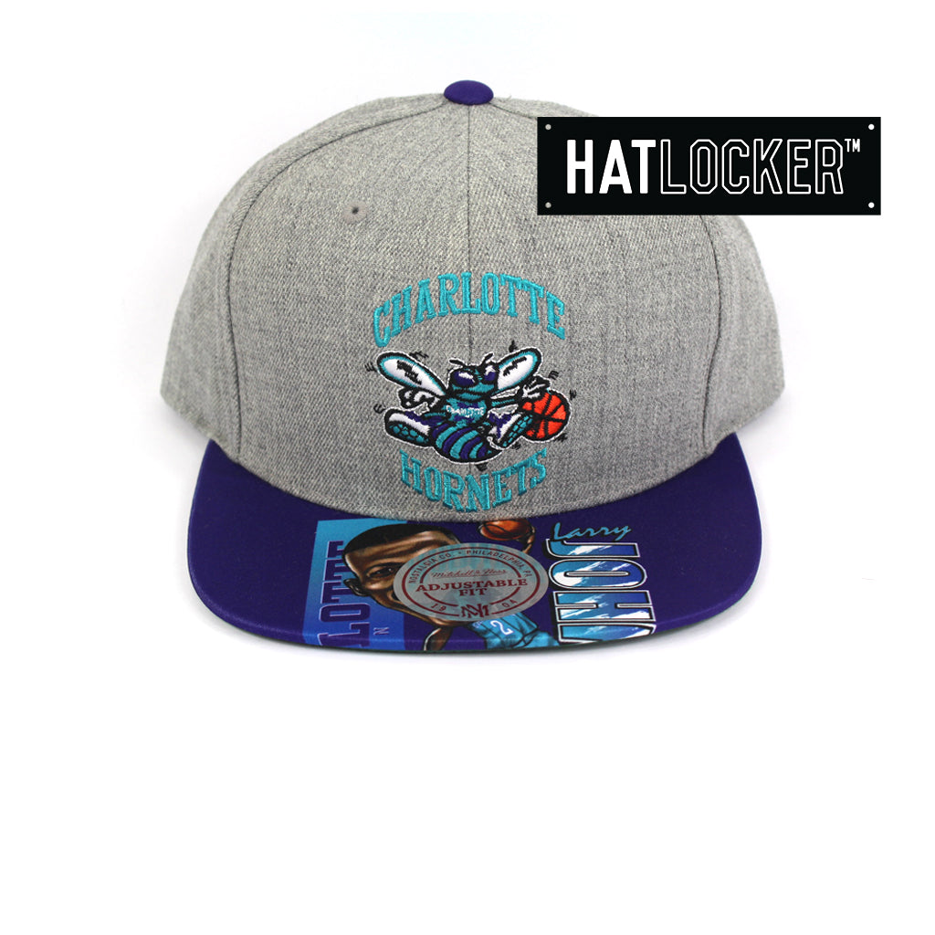 huge discount 05863 e725c ... authentic mitchell and ness charlotte hornets caricature snapback cap  aca28 a74d0